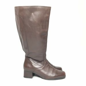 Blondo Canada Boots Leather Brown Extra Wide Calf